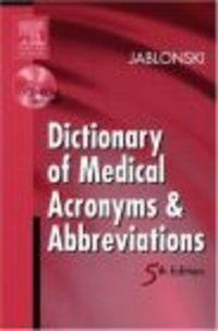 Okładka książki Dictionary of Medical Acronyms && Abbreviations Book && CD Rom
