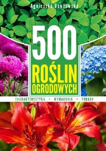 Okładka książki 500 roślin ogrodowych