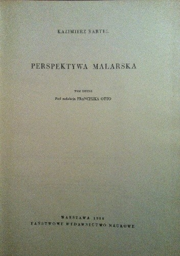 Okładka książki Perspektywa malarska