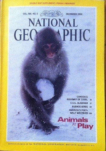 Okładka książki National Geographic Vol.186, No.6 December 1994