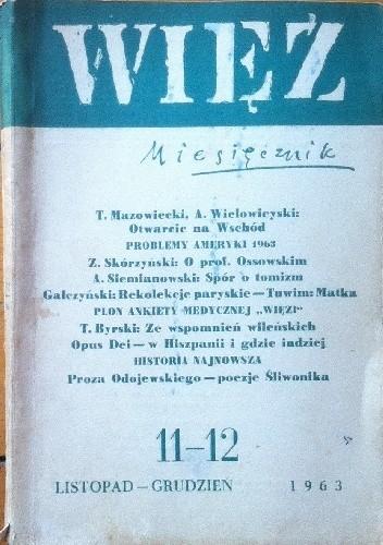Okładka książki Więź nr 11–12 (67-68), listopad - grudzień 1963
