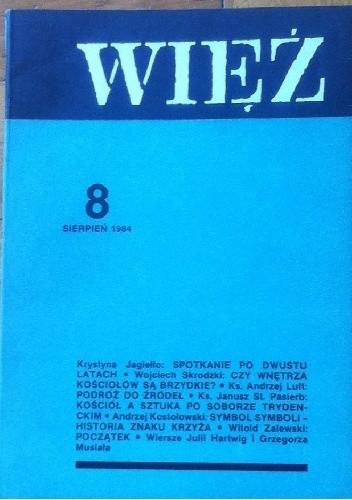 Okładka książki Więź nr 8 (310), sierpień 1984