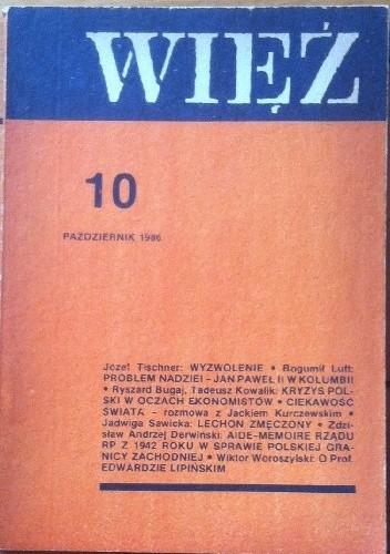 Okładka książki Więź nr 10  (336) październik 1986
