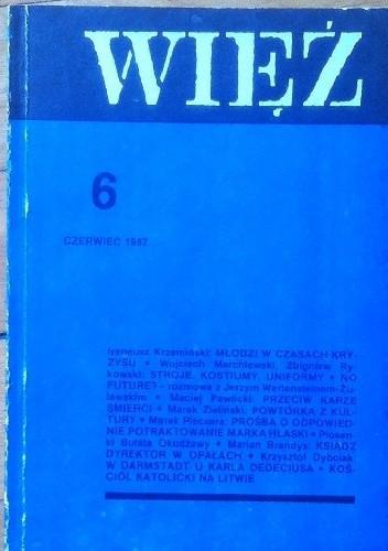 Okładka książki Więź nr 6 (344) czerwiec 1987