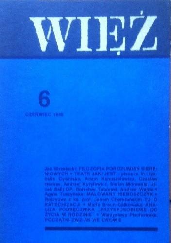 Okładka książki Więź nr 6 (356) czerwiec 1988