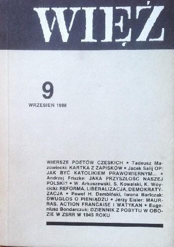 Okładka książki Więź nr 9 (359) wrzesień 1988