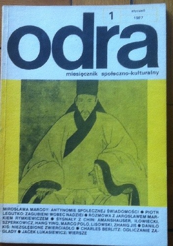 Okładka książki Odra. Miesięcznik społeczno-kulturalny nr 1, styczeń 1987
