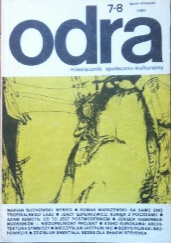 Okładka książki Odra. Miesięcznik społeczno-kulturalny nr 7–8, lipiec-sierpień  1987