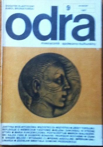 Okładka książki Odra. Miesięcznik społeczno-kulturalny nr 9, wrzesień 1987