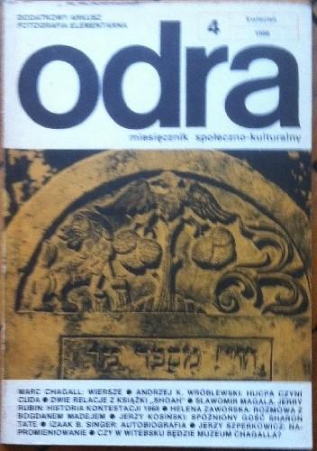 Okładka książki Odra. Miesięcznik społeczno-kulturalny nr 4, kwiecień 1988