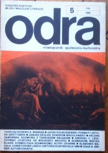 Okładka książki Odra. Miesięcznik społeczno-kulturalny nr 5, maj 1988