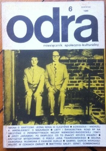 Okładka książki Odra. Miesięcznik społeczno-kulturalny nr 6, czerwiec 1988