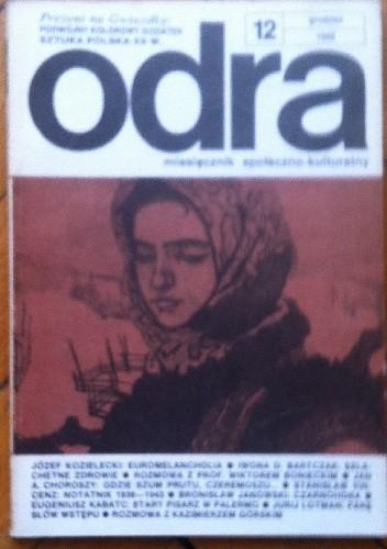 Okładka książki Odra. Miesięcznik społeczno-kulturalny nr 12, grudzień 1988