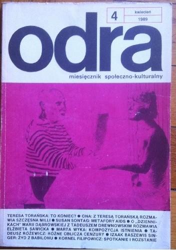 Okładka książki Odra. Miesięcznik społeczno-kulturalny nr 4, kwiecień 1989