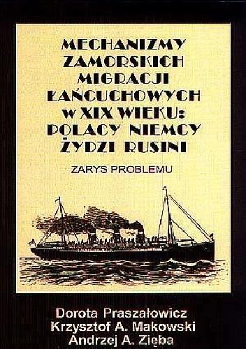 Okładka książki Mechanizmy zamorskich migracji łańcuchowych w XIX wieku: Polacy, Niemcy, Żydzi, Rusini. Zarys problemu