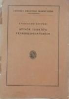 Wybór tekstów starosłowiańskich (starobułgarskich)
