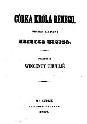 Okładka książki Córka króla Renego