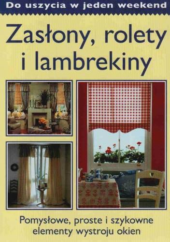 Okładka książki zasłony, rolety, lambrekiny do uszycia w jeden weekend.