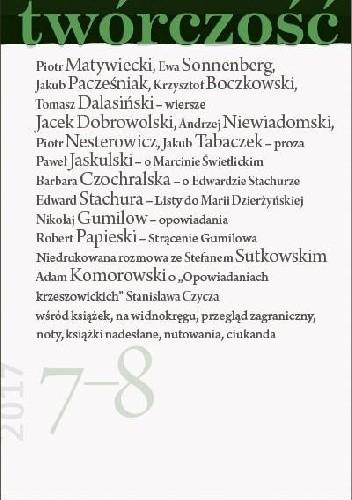 Okładka książki Twórczość nr 7-8 / 2017