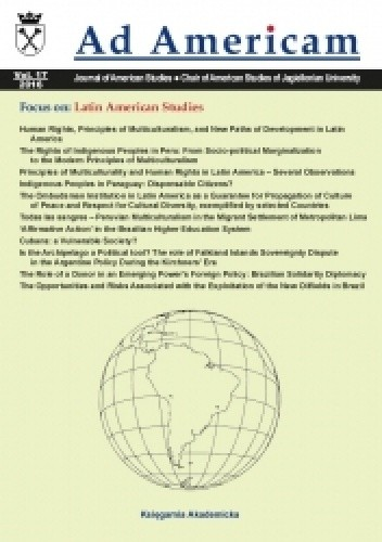 Okładka książki Ad Americam. Vol. XVII. Focus on: Latin American Studies (2016)