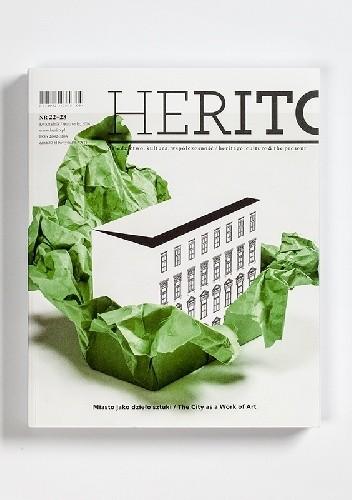Okładka książki HERITO, nr 22–23: Miasto jako dzieło sztuki