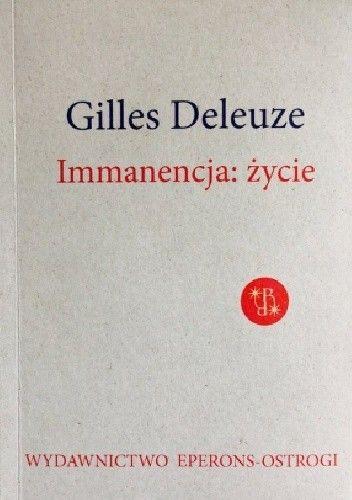 Okładka książki Immanencja: życie