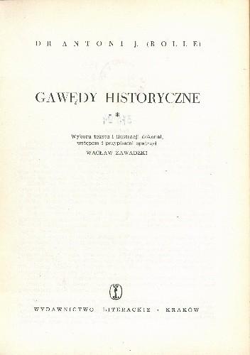 Okładka książki Gawędy Historyczne