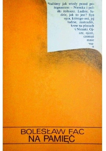 Okładka książki Na pamięć
