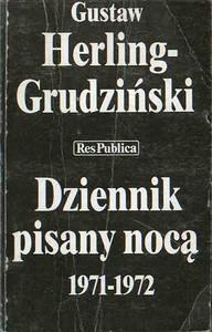 Okładka książki Dziennik pisany nocą 1971-1972