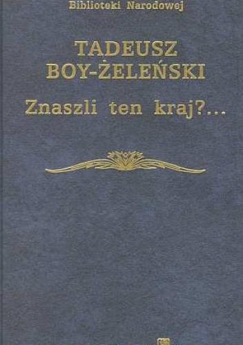 Okładka książki Znaszli ten kraj?...