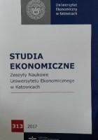 Studia Ekonomiczne Zeszyty Naukowe Uniwersytetu Ekonomicznego w Katowicach 313/2017