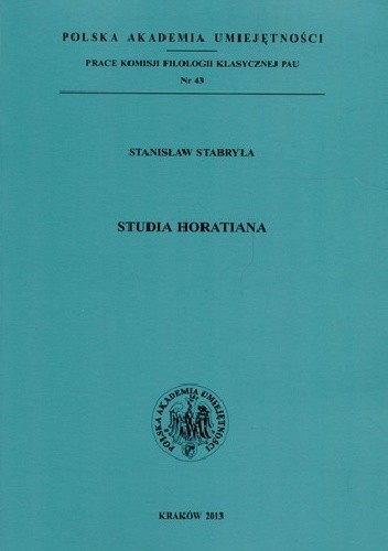 Okładka książki Studia Horatiana
