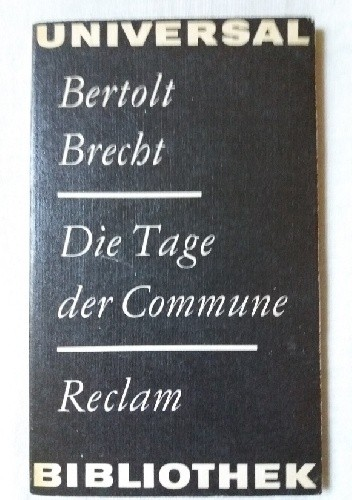 Okładka książki Die Tage der Commune