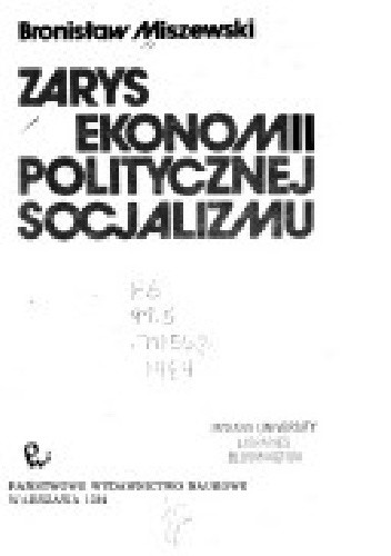 Okładka książki Zarys ekonomii politycznej socjalizmu