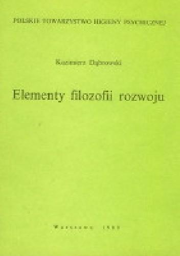 Okładka książki Elementy filozofii rozwoju