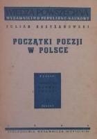Początki poezji w Polsce