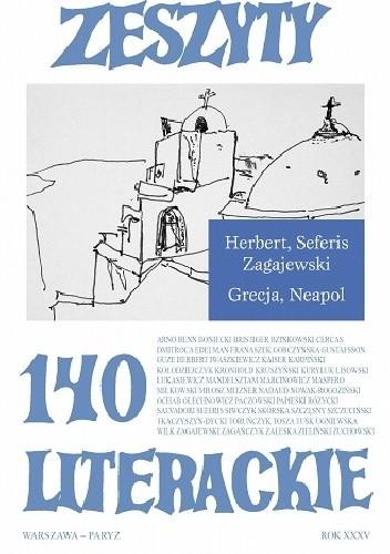 Okładka książki Zeszyty Literackie nr 140