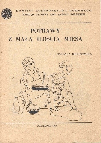Okładka książki Potrawy z małą ilością mięsa