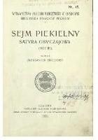 Sejm piekielny. Satyra obyczajowa (1622)