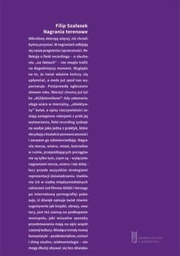 Okładka książki Nagrania terenowe