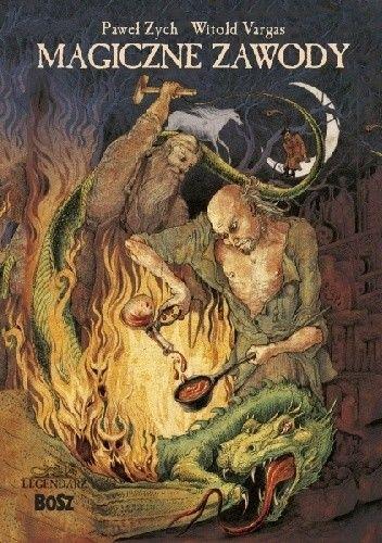Okładka książki Magiczne zawody. Kowal, czarodziej, alchemik