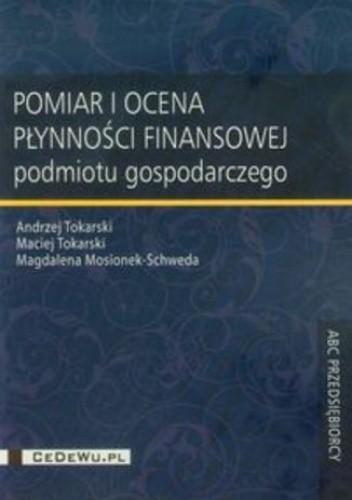 Okładka książki Pomiar i ocena płynności finansowej