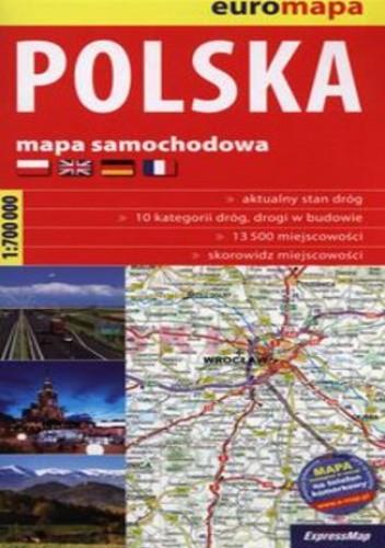 Okładka książki Polska 1:700 000 mapa samochodowa