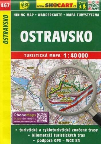 Okładka książki Ostravsko (Ostrawa i okolice). Mapa Shocart / 1:40 000