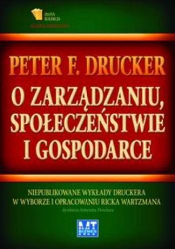 Okładka książki O zarządzaniu, społeczeństwie i gospodarce