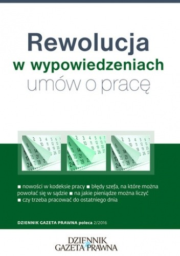 Okładka książki Rewolucja w wypowiedzeniach umów o pracę