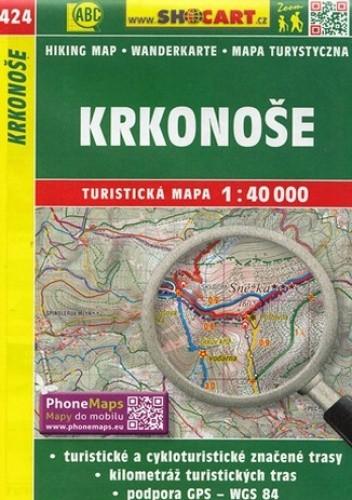 Okładka książki Krkonoše, 1:40 000