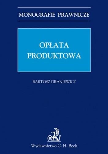 Okładka książki Opłata produktowa
