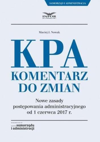 Okładka książki KPA. Komentarz do zmian