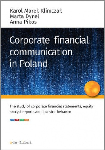 Okładka książki CORPORATE FINANCIAL COMMUNICATION IN POLAND